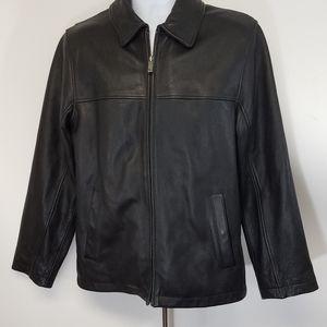 Eddie Bauer Men's Jacket Leather Black S